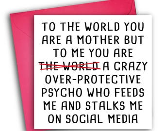 Funny Mothers Day Card | Psycho Mum