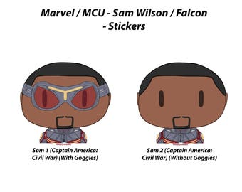 Sam Wilson / Falcon - Chibi Head Stickers