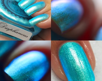 "P•O•P Polish ""Diaphanous"" Nail Polish Quick Dry Ethereal Winter Iridescent Tags/ DuoChrome Mirror MultiChrome"