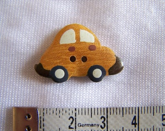 Kids button, wood, car (Bo 2272)