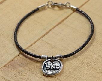 Kabbalah 72 Names of God Abundance & Prosperity Black Leather Bracelet