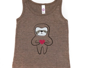 Coffee Sloth Love Tank Top 2T 4T 6T 12Y ON SALE