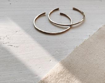 Minimalist Brass Stacker | Hammered Stacking Bracelet | Simple Gold Cuff