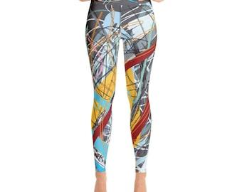 SGRIB Print Women's Fashion Yoga Leggings - xs-xl sizes - design number twelve - on gray
