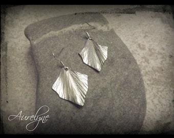 Stainless steel Earings Psylle Ivy leaf dreamlike fairy elven