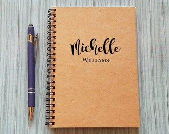 Personalized Notebook, [Custom Name] - 5 x 7 Journal, Diary Journal, Notebook, Gift