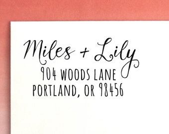 Modern Custom Address Stamp | Return Address Stamp | Custom Address stamp | Self Inking | Return Address Labels | Personalized Stamp, No. 30