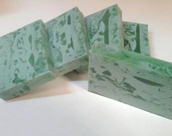 Fresh Cut Grass Soap - Goats Milk and Glycerin swirl bar