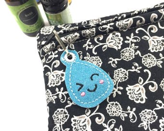 Essential Oil Case -roller ball or mini bottle case - pouch to hold essential oils - travel case for essential oil - essential oil holder