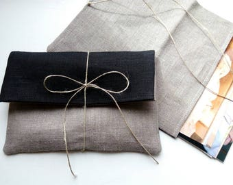 Photo / Picture/ Card  natural linen packaging. Linen envelopes. Linen bags. Favor bags.Ecco wedding. Baby shower. Picture wrapping.