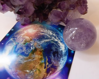 New Earth Orb of Crystalline Violet Flame ~ 40 mm