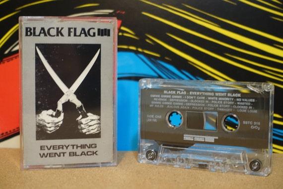 Everything Went Black by Black Flag Vintage Cassette Tape