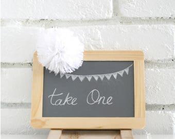 4 x 6 Wood Frame Unfinished Chalkboard - DIY Wedding/Sign/Party decor/Photo Prop