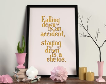 Falling Down Digital Art Print
