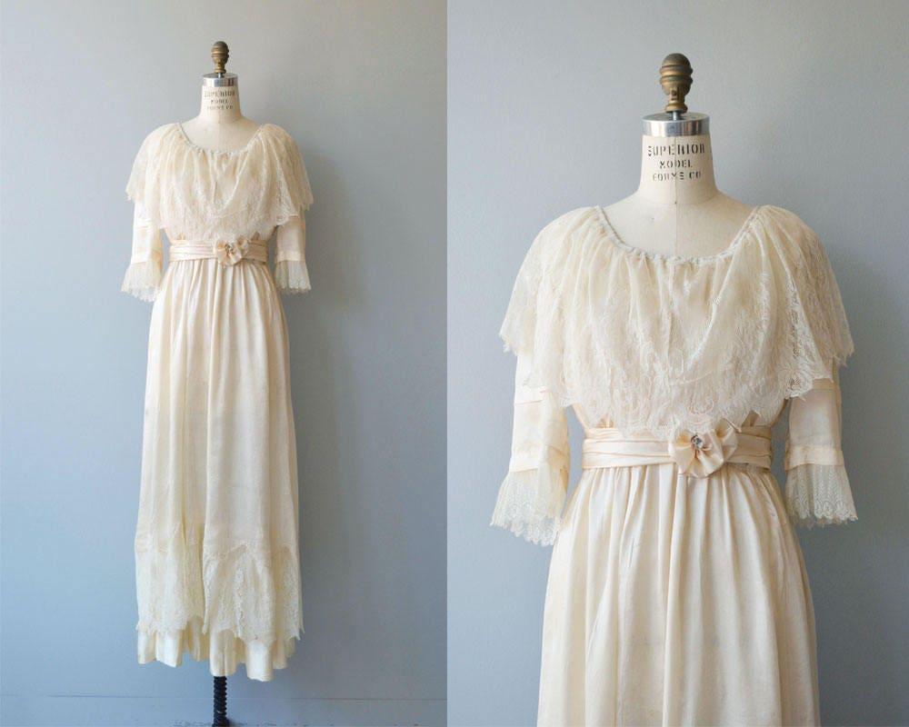 Nuptials 1916 wedding gown antique Edwardian wedding dress