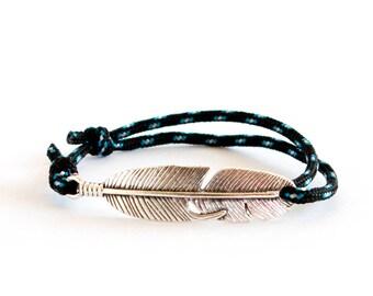 Feather Jewelry, Feather Hand Bracelet, Lucky Feather Bracelet Jewelry