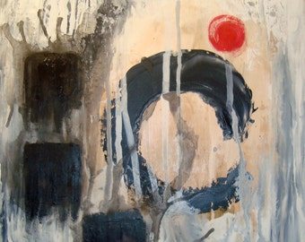 Moment of Zen- Original Abstract Watercolor Painting on Poplar Board