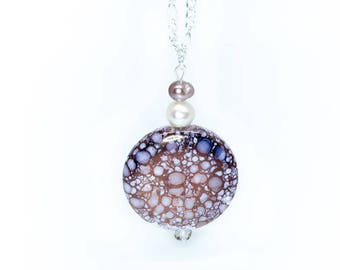 Dappled Purple Pendant Necklace