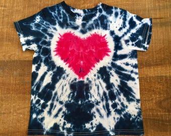 Heart Kids Tye Dye T-Shirt  sizes XS,S,L