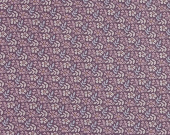 1/2 metre of Floral Print Fabric from Fabric Freedom - Flower & Fern on Lavender