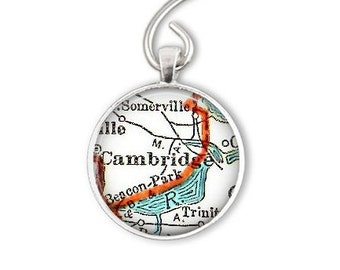 Cambridge Massachusetts Holiday Ornament, gifts for men, Christmas Gift for her, Massachusetts ornament or Cambridge bottle opener keychain