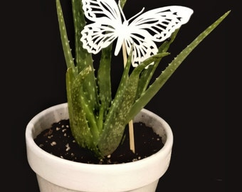 3d printed butterfly plant decor