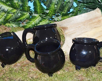 Pair of 2 Cauldron Mugs For You and Your Favorite Witch! Witchy, Witch, Witch's Brew, Brews, Pagan, Wiccan