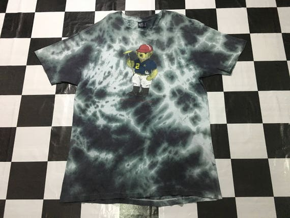 Size lauren bear Made Good custom ralph in Vintage condition Original L dye t tie shirt usa by Polo PxqHfwF