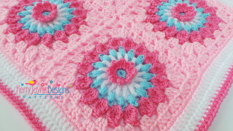 AMAZING DAISY CROCHET Blanket Pattern Granny Square Blanket Pattern ...
