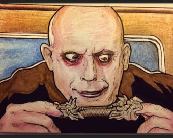 Uncle Fester Addams Family Artist Trading Card FREE SHIPPING
