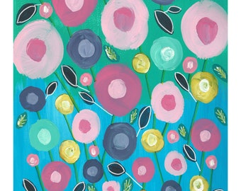 """Limited Edition Fine Art Giclee Print """"Summer Blooms"""""""