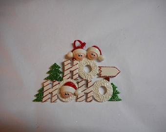 Family of 3 HoHoHo ornament//personalized christmas ornament// Group of 3 ornament//christmas ornament//personalized