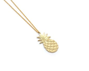 "Gold filled long necklace / Sautoir / Handmade / Original and modern ideal gift - ""Piña"" by Lily Garden"