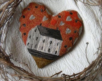 Love Shack ~ Punch Needle Pattern from Notforgotten Farm™ ~ PDF/Instant Download