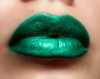 Esmeralda - Bright Green Lip gloss Vegan - Gluten Free - Fresh - Handmade Cruelty Free Forest Green Emerald