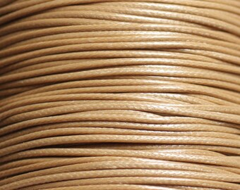Reel 90 m - wire cord 1 mm Beige waxed cotton cord