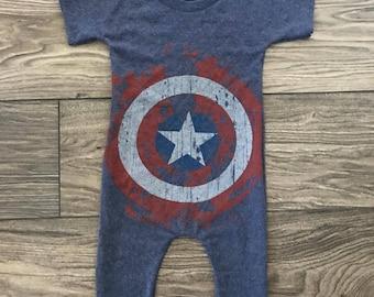 Vintage Captain America Romper size 18-24mo