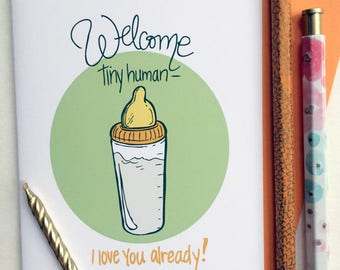 Welcome Tiny Human Greeting Card
