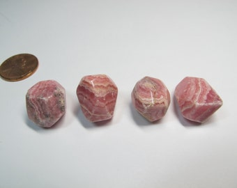 Rhodochrosite nuggets, Faceted Rhodochrosite beads, Center piece, Wire Wrapping