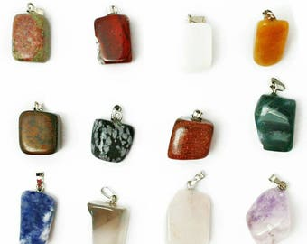 Wholesale gemstone etsy assorted natural stone pendants point pendants charms pendants for jewelry wholesale aloadofball Image collections