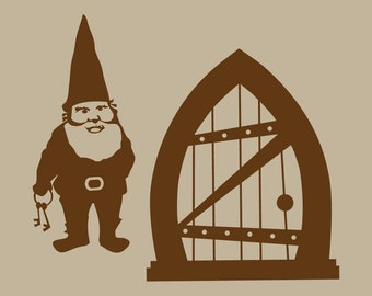Gnome Home Vinyl Wall Decal Graphic