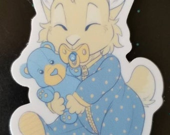 Sleepy Bunny sticker