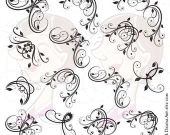 Wedding silhouette clipart bride and groom illustration jpeg corner clipart flourish border decorative digital frame corners for design of cards wedding items junglespirit Choice Image