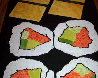 SALE Sushi POP ART Floorcloth