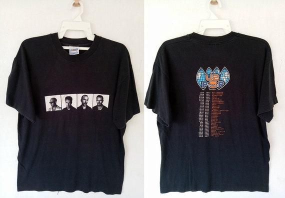 band new album shirt 90s alternative U2 Tour Mart pop Concert rare VINTAGE tee t wave Pop music Promo rock 8wAZnS