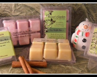 Scented Soy Wax Melts - Waffle Bars - Home and Living - Holiday Scents - Lavender - Peppermint - Eco Etsy Home - Home Gift - Aromatherapy