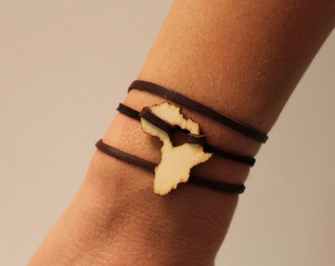 Africa Leather Wrap Bracelet