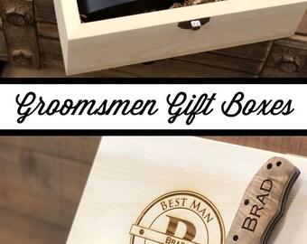 Groomsmen Cigar Box Engraved Wood Cigar Box Groomsmen Gifts Asking Groomsmen Best Man Proposal Boyfriend Gift Keepsake Box