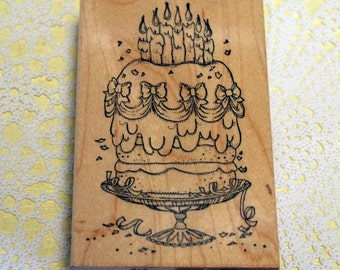 Art Impressions Wood Mounted Rubber Cake Stamp