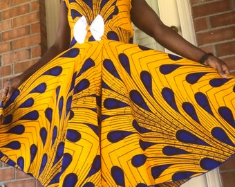 African fabric prints dress